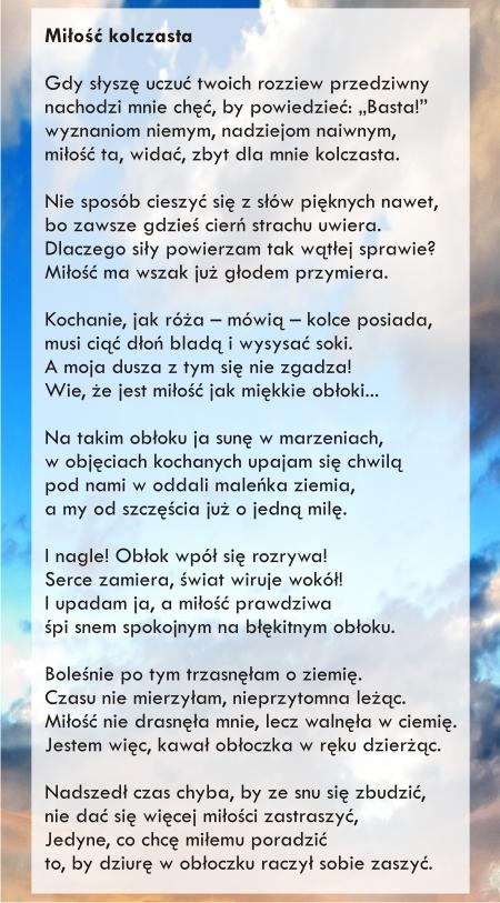 042012 Miłość Kolczasta Wiersze Mgr Farm Pauliny Anny