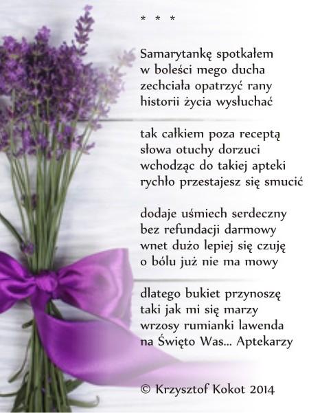 082014 Samarytankę Spotkałem Wiersz Krzysztofa