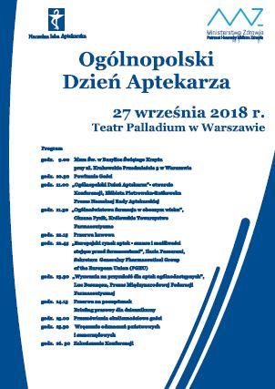 A. Ogólnopolski Dzień Aptekarza. Warszawa, 27 września 2018 r.