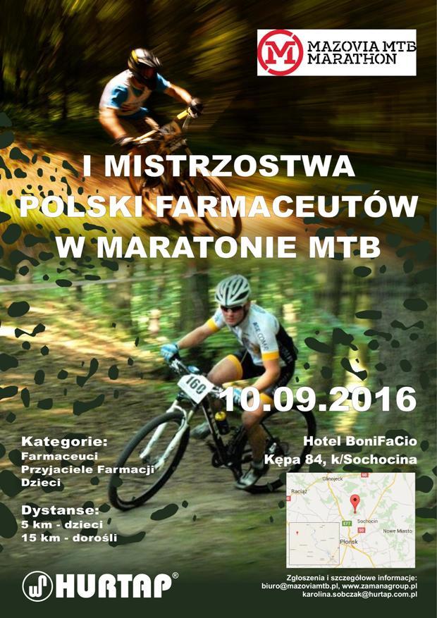 I Mistrzostwa Polski Farmaceutów w Maratonie MTB.