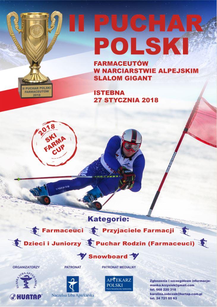 II Puchar Polski Farmaceutów w Narciarstwie Alpejskim. Istebna. 27.01.2018.