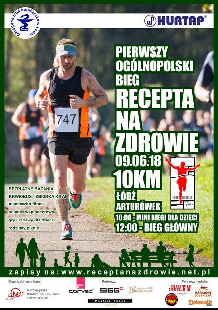 """Pierwszy Ogólnopolski Bieg """"Recepta Na Zdrowie"""" – 09.06.2018."""