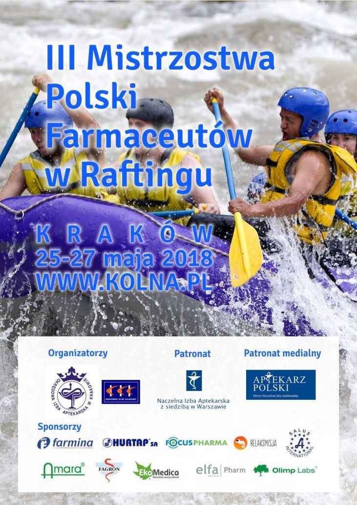III Mistrzostwa Polski Farmaceutów w Raftingu. 25-27.05.2018.
