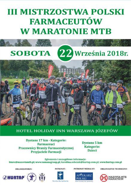 III Mistrzostwach Polski Farmaceutów w maratonie MTB.