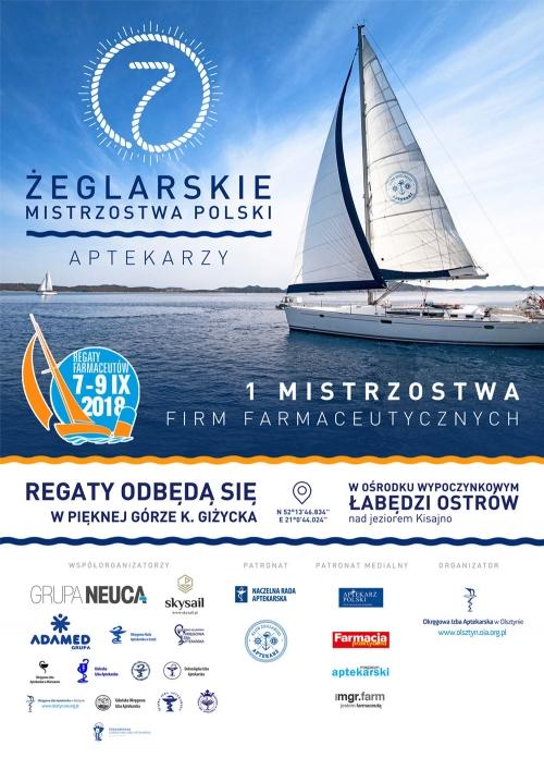 VII Żeglarskie Mistrzostwa Polski Aptekarzy. 06.09 – 09.09.2018.