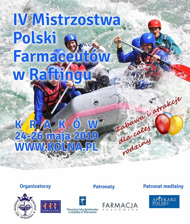 C. IV Mistrzostwa Polski Farmaceutów w raftingu. 24-26.05.2019.