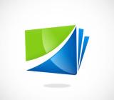 business office data folder abstract vector logo