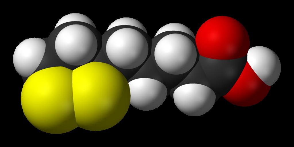 Struktura chemiczna kwasu liponowego